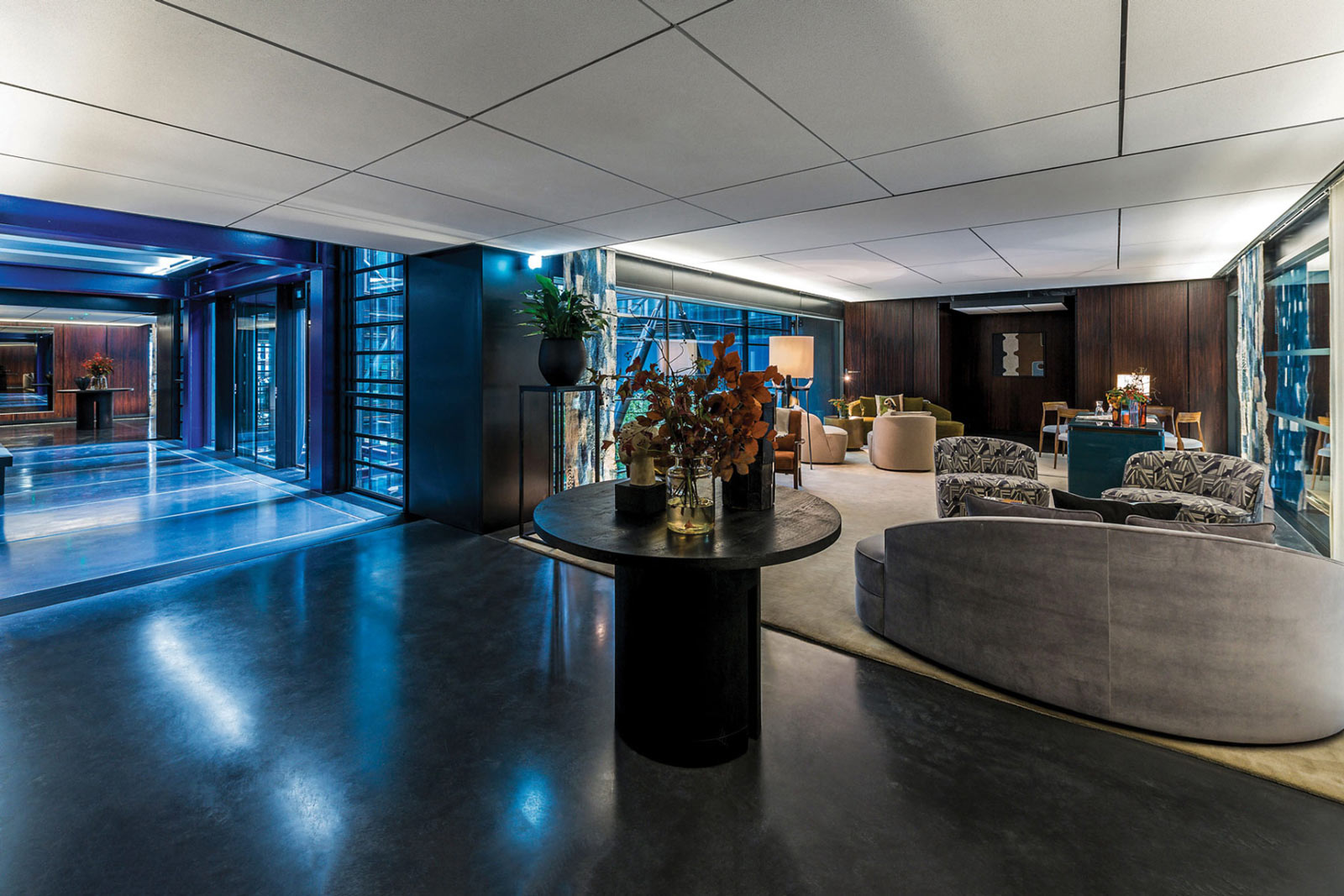 Resident lounge of penthouses