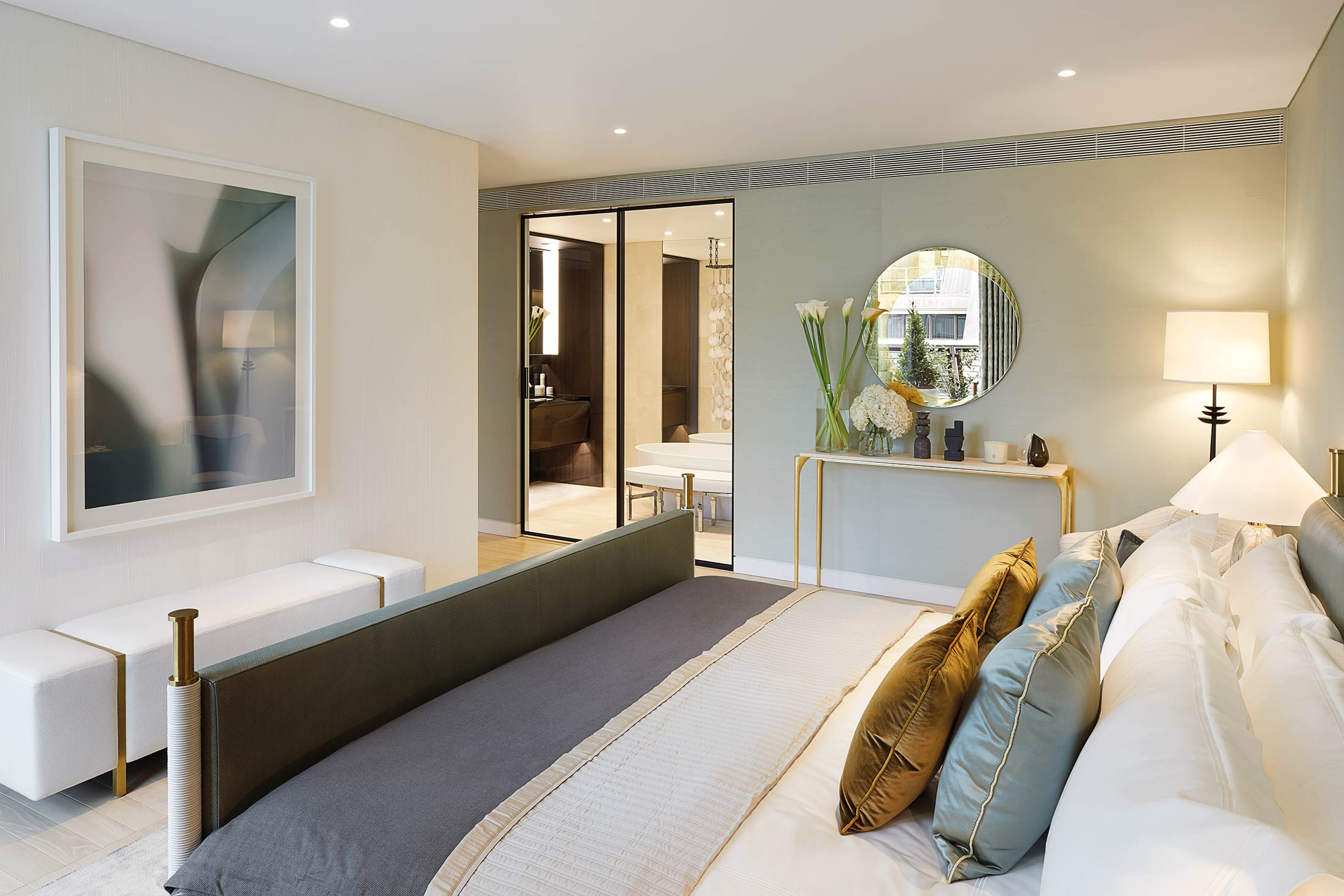 Master bedroom with en-suite bathroom and private terrace